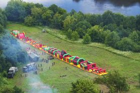 100 Meter Long Inflatable Obstacle Course