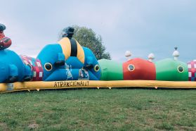 The Inflatable Lazy Monster - a huge child magnet