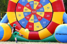 Inflatable Dartboard - is a mix of both world-famous sports, soccer and darts.
